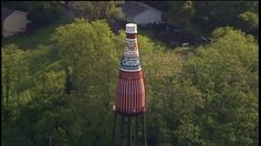 World's largest catsup bottle spotted by kyFOX helicopter in Collinsville Illinois. #STLOUIS #STL #STLGRAM