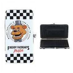 huge selection of 0a5de d151d Five Nights At Freddy s FNAF Freddy Fazbear s Pizza logo design Kisslock  Hinge Wallet - Hot Topic