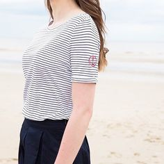 You can never go wrong with a Breton tee! T-shirt: 350019950
