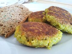 Chickpea, quinoa, cauliflower and broccoli patties