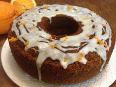 Cake with whole orange pieces ! Greek Recipes, Doughnut, Recipies, Muffin, Sweets, Breakfast, Desserts, Food, Cakes