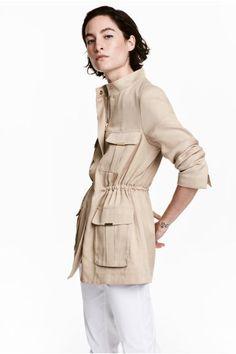Куртка из лиоцелла - Светло-бежевый - Женщины | H&M RU
