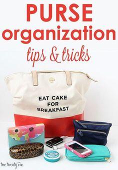 GREAT purse organization tips and tricks! Useful Life Hacks, Life Hacks