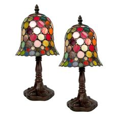 "TIFFANY STYLE TABLE LAMP 12.5"" SPOT DESIGN 8""GLASS SHADE + BULB * BUY 2 SAVE 10% 