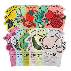 Tonymoly I'm Real Mask Sheet 21ml 11 Kinds Face Skin Care Korea Cosmetic-3PCS #TONYMOLY