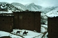 bruno barbey - morocco. ait bouguemmez valley. 1988. (magnum photos)