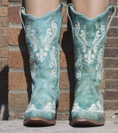 Turquoise Corral boots from Country Outfitters