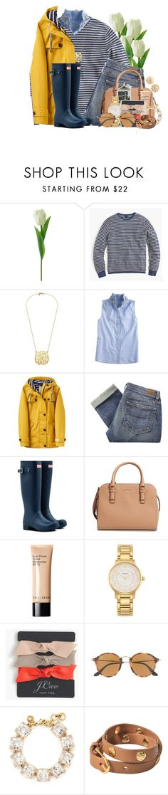 """And it's raining on Thanksgiving"" by flroasburn ❤ liked on Polyvore featuring J.Crew, Joules, Paige Denim, Hunter, Kate Spade, Bobbi Brown Cosmetics, Ray-Ban and Tory Burch"