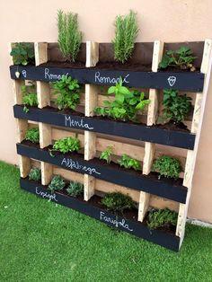 Wooden Pallet Vertical Herb Garden - 130 Inspired Wood Pallet Projects   101 Pallet Ideas - Part 10 Más