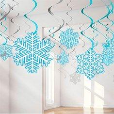 Espirais Decorativas Flocos de Neve - 08 unidades