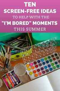 """Summer is almost here and for many of us this means coming up with a game plan to battle the choruses of """"I'm bored"""" our kids will be saying to us. You probably already have camps and trips and other activities..."""