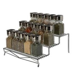 Geode 3 Tier Spice Rack in Chrome