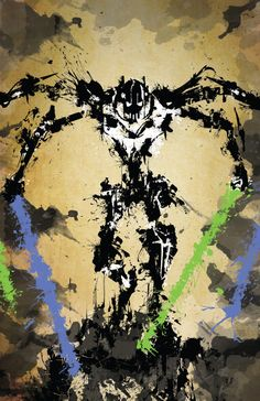 Star Wars General Grievous Grunge Print