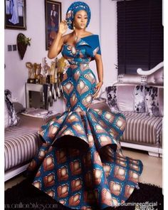 The best collection of unique and classic ankara gown styles of these ankara gowns are classically made African Prom Dresses, African Wedding Dress, African Fashion Dresses, African Attire, African Dress, African Style, African Ankara Styles, Fashion Outfits, African Weddings