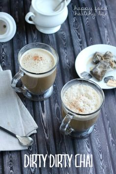 Dirty Dirty Chai (vegan) - Find out what makes this hot drink EXTRA dirty! | www.happyfoodhealthylife.com #AD #SweetWarmUp