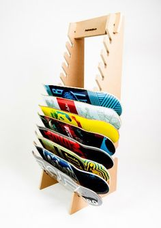 Skateboard Longboard Snowboard Floor Display Rack (The Deckhand)