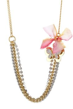 Juicy Couture Butterfly Swag Necklace  (I'm gonna make it!)