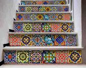 Tile/wall/Stair decal :Mexican Talavera style 22 by Bleucoin