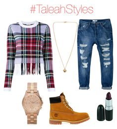 """#TaleahStyles"" by taleahtillery on Polyvore featuring Timberland, MANGO, Chloé, Marc by Marc Jacobs and Michael Kors"
