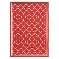 Safavieh Courtyard Red / Bone Rug Red Bone, Trellis Pattern, Trellis Design, Patio Seating, Patio Rugs, Indoor Outdoor Area Rugs, Outdoor Carpet, Outdoor Living, Outdoor Decor