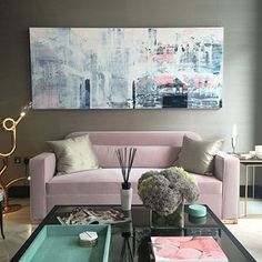 Large Wall Art For Interiors Jessica Zoob British Contemporary Artist - Taylor Howes City Gallery, Gallery Wall, Taylor Howes, Gold Sofa, Big Wall Art, Modern Colors, Grey Walls, Design Inspiration, Design Ideas