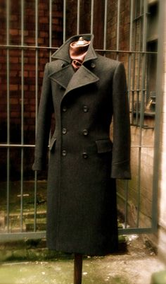 DAVIDE TAUB: Military Style 'Winter-Warm' Great Coat, 2010
