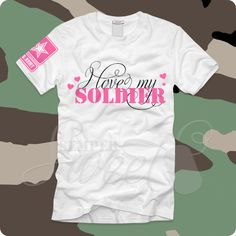 I Love My Soldier Pink, $26.00