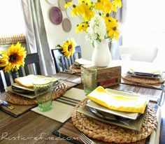Country Yellow & Cream Tablescape