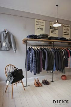 Store design for CTW. Dick's Edinburgh - The Quality Menswear, Accessories and Homewares Store, Scotland