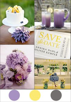I love this color combo for a spring or summer wedding :)
