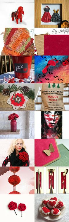 Lovely reds  by Samantha Miller on Etsy--Pinned with TreasuryPin.com