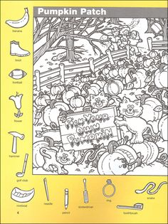 prints full page Cute Coloring Pages, Coloring Books, Speech Therapy Activities, Activities For Kids, Hidden Pictures Printables, Hidden Picture Puzzles, Halloween Scavenger Hunt, Fall Arts And Crafts, File Folder Activities