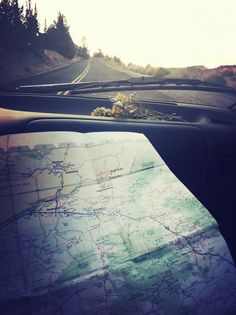 map, wildflowers, untravelled road // chasing sunsets, its what we do