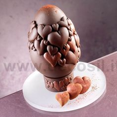 Chocolate Easter Egg Mould, Chocolate Mould Hearts Easter Egg, Moulds for Easter decorations #chocolate #easter buy now the mould on www.decosil.eu