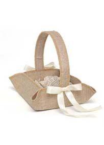 Rustic Country Flower Girl Basket, Style DBK25222 #davidsbridal #rusticweddings