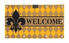 Amazon.com : Evergreen EverOptics, Welcome Fleur, Lighted Coir Floormat, 28x16 Inches : Patio, Lawn & Garden