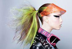 Guido Palau , great British fashion hairstylist, in a fantastic wacky-futuristic punk