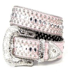 Fashion Leather Belt with Rhinestone & Stud. Simply gorgeous. This lavish and over the top leather belt features an array of crystal colored rhinestones throughout the entire length of the belt. Feel snake skin. | eBay!