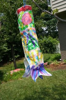 * Homemade Japanese Fish Kite Fun!