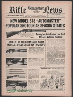 1959 REMINGTON Model 878 Automaster Shotgun AD : Other Collectibles at GunBroker.com