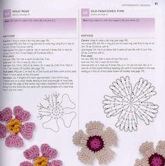 """"""" MOSSITA BELLA PATRONES Y GRÁFICOS CROCHET """": Flores a Crochet... Hermosas!!!"""