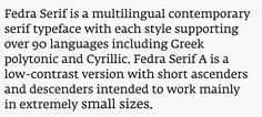 Fedra Serif