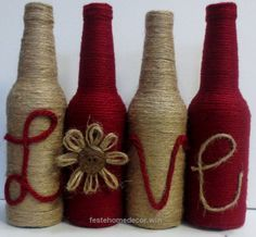 Check it out FREE SHIPPING Set of Four Twine Wrapped Bottles by OrangeCreek  The post  FREE SHIPPING Set of Four Twine Wrapped Bottles by OrangeCreek…  appeared first on  Feste Home Decor .