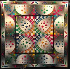 Beth Nufer and Clem Buzick's quilt, Carnival, won Best of Mid-Century Modern at PIQF 3d Quilts, Panel Quilts, Quilt Blocks, Barn Quilts, Optical Illusion Quilts, Optical Illusions, International Quilt Festival, Beach Quilt, The Quilt Show