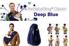 Take Baby Shoppee: The Baba Sling Classic 5in1 Baby Carrier Deep Blue...