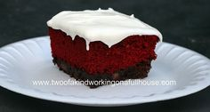 Red Velvet Brownies With Cream Cheese Icing - Yum!