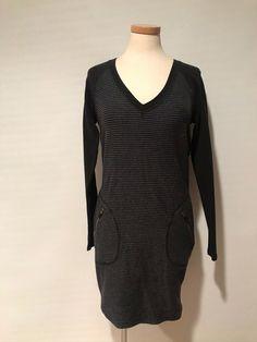 Athleta Black Gray Casual Dress Stretch Zip Pockets Size XS - Grey Dresses - Ideas of Grey Dresses Grey Dresses, Black And Grey, Gray, Pockets, Zip, Casual, Ideas, Fashion, Moda