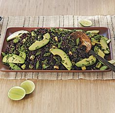 Made this tonight. Delicious! Will definitely make again. Black Rice Salad with Sugar Snap Peas and Avocado