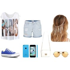 imagination by karenvanessa1d on Polyvore featuring moda, Paige Denim, Converse, Linda Farrow and Forever 21