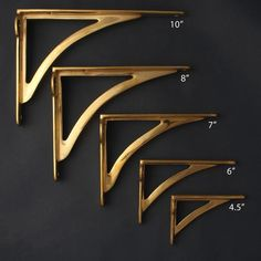 Our classic ironbridge bracket range made by hand from solid cast brass with a polished finish. These brackets are truly heavy quality that not only look stunning but hol Antique Shelf Brackets, Cast Iron Shelf Brackets, Antique Shelves, Metal Shelves, Floating Shelves, Brass Shelving, Open Shelves, Kitchen Shelves, Kitchen Cabinets